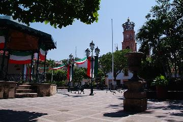 Puerto Vallarta Main Plaza and Church
